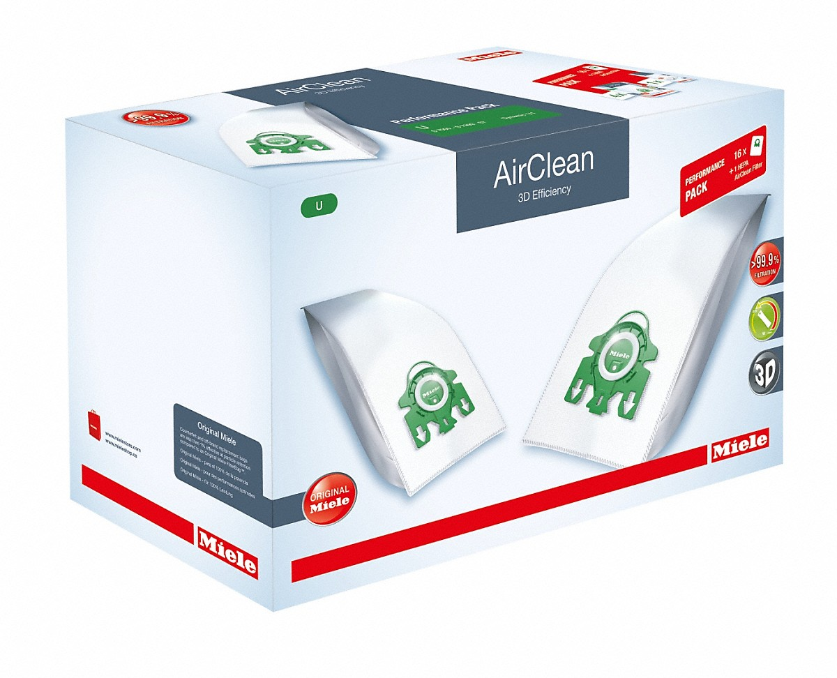 Model: U HA30 Performance AirClean 3D | Performance Pack AirClean 3D Efficiency U16 dustbags and 1 HEPA AirClean filter at a discount price