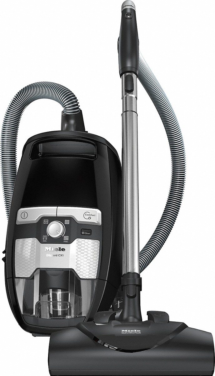 Bagless canister vacuum cleanerswith electrobrush for thorough cleaning of heavy-duty carpeting.
