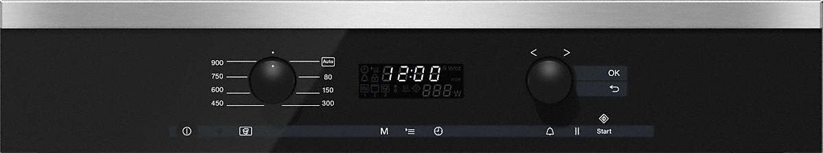 Model: 24626050USA   Built-in microwave ovenwith controls along the top for optimal combination possibilities.