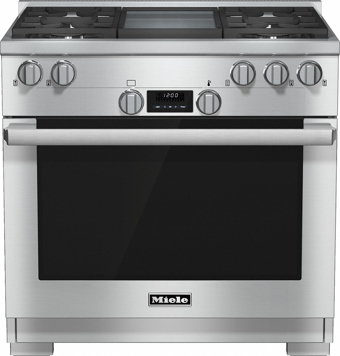 Miele 36 inch rangeAll Gas with DirectSelect, Twin convection fans and M Pro dual stacked burners