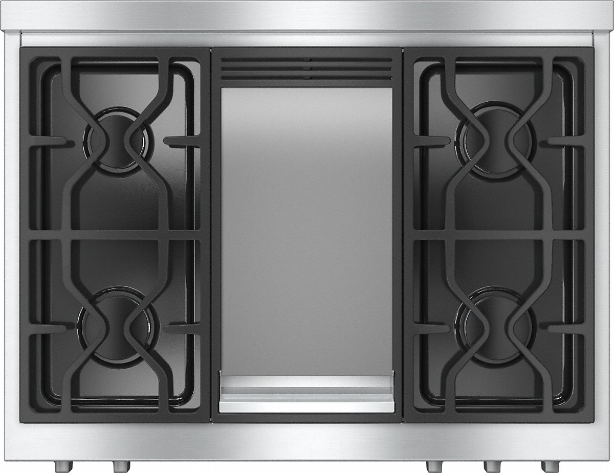 RangeTopwith 4 burners and griddle for versatility and performance