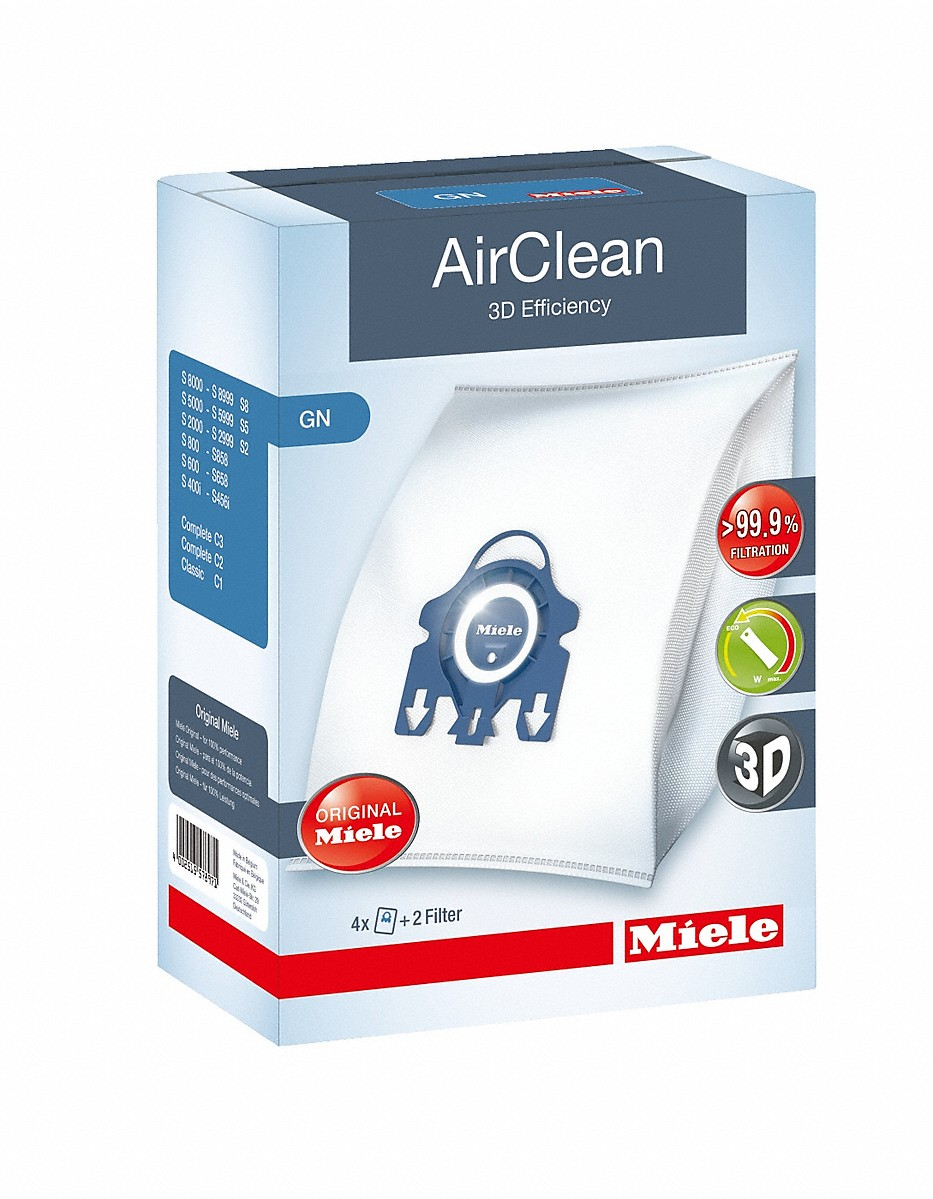 Miele AirClean 3D Efficiency GN dustbagsensures that dust picked up stays inside the machine.
