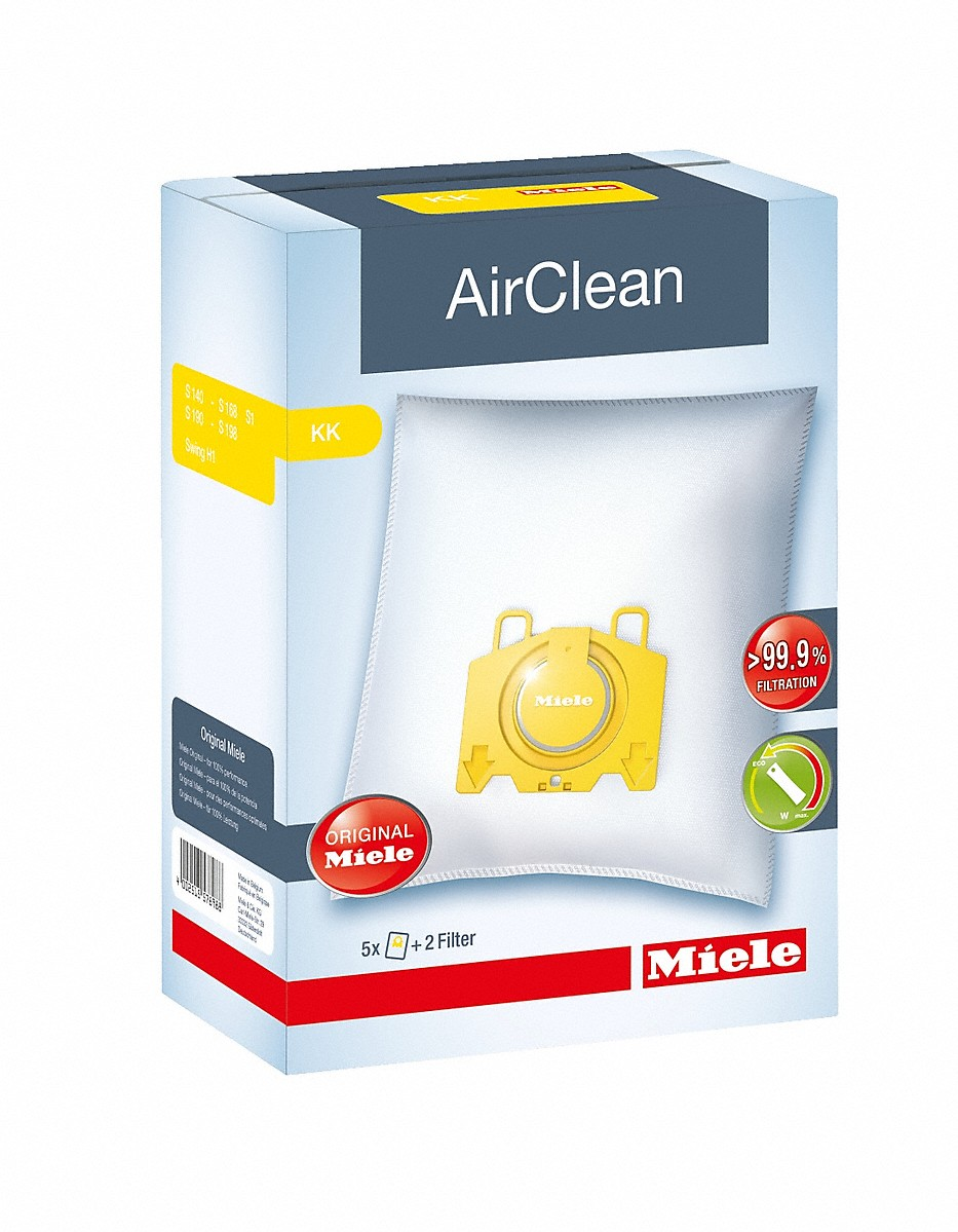 Miele AirClean KK dustbagsensures that dust picked up stays inside the machine.