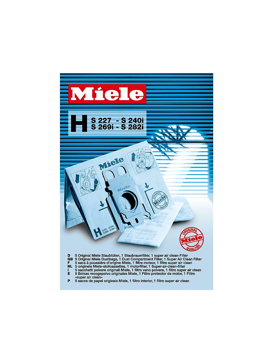 Miele Genuine Miele FilterBag Type H for optimal vacuuming results.