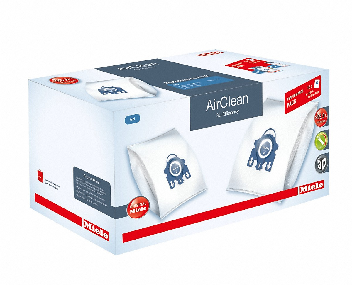 Miele Performance Pack AirClean 3D Efficiency GN 3016 dustbags and 1 HEPA AirClean filter at a discount price