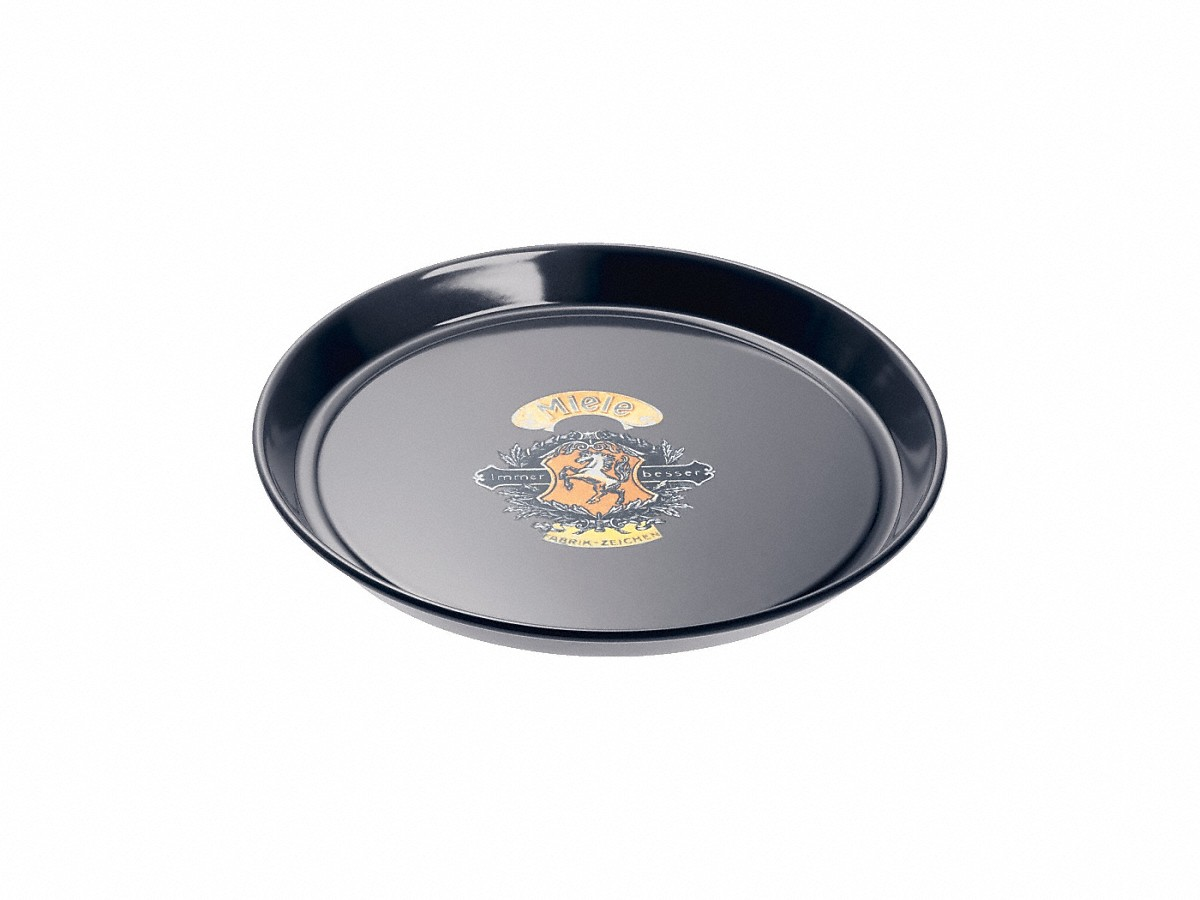 Miele Round baking tray - Nostalgic logowith PerfectClean finish.