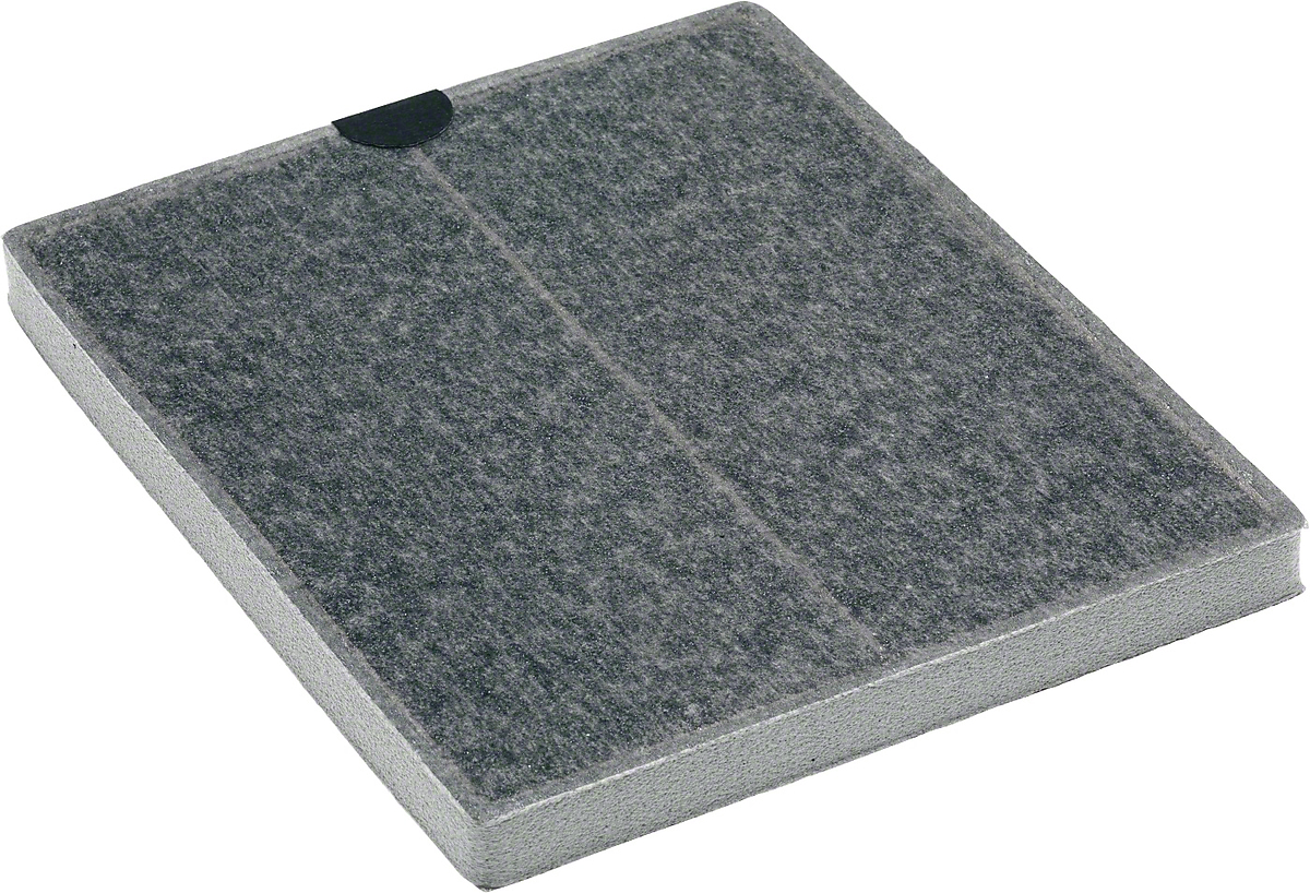 odor filter with active charcoal prevents unpleasant odors in the kitchen.