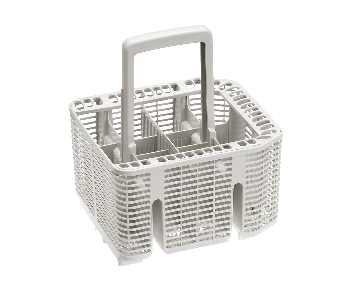 Cutlery basket for additional cutlery capacity in the bottom basket.