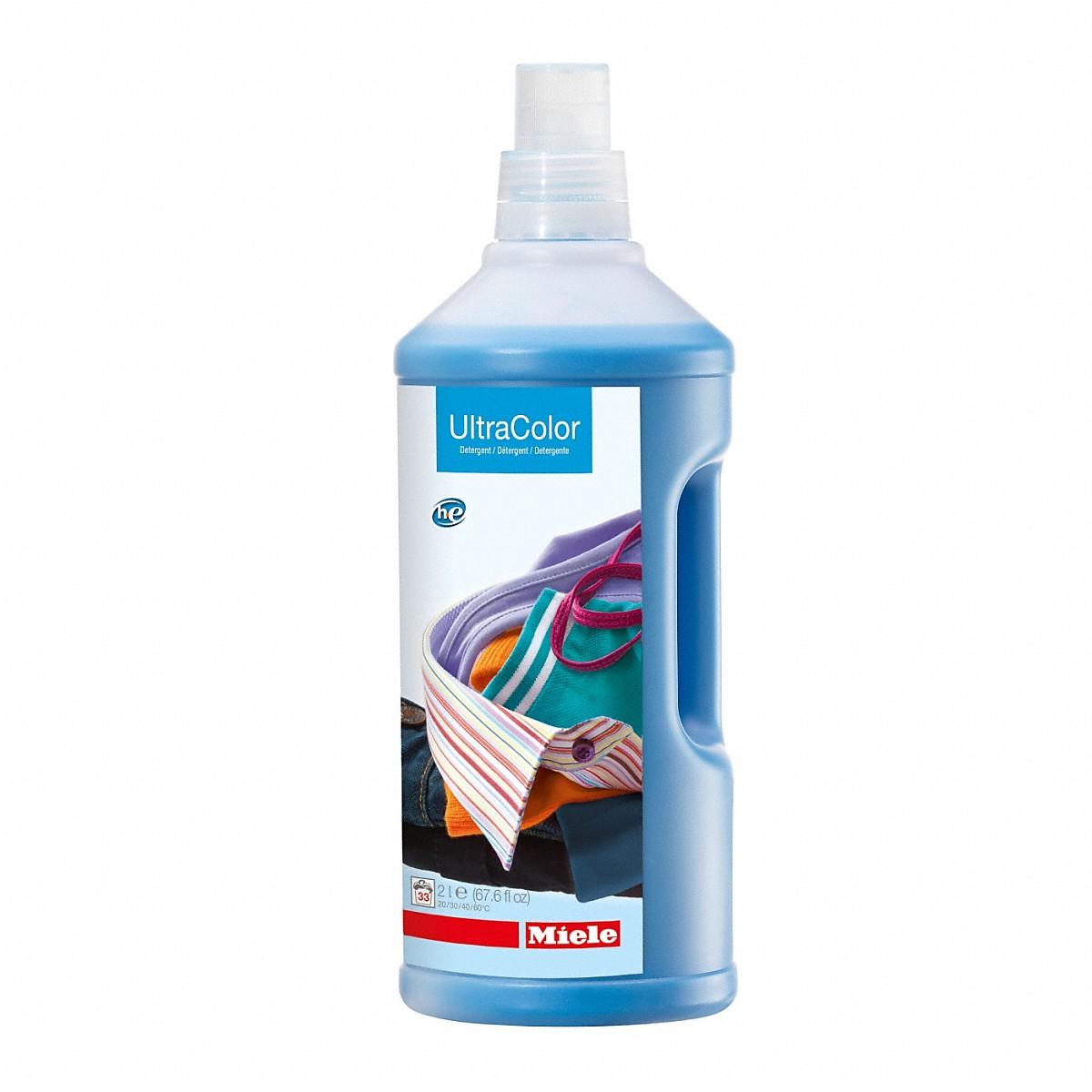 UltraColor liquid detergent 67.6 fl. oz. for color and black garments.