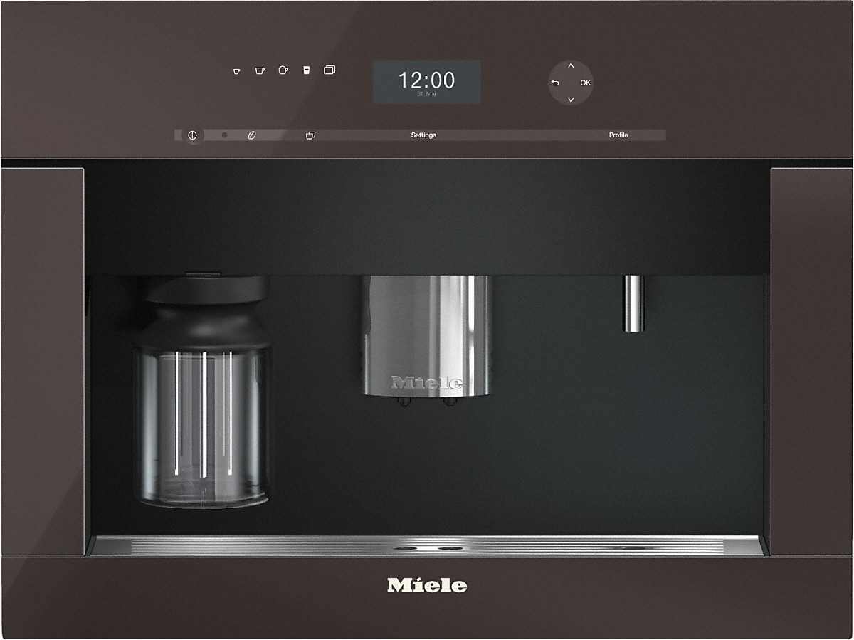 Built-in coffee machine with bean-to cup system and OneTouch for Two prep. for perfect coffee enjoyment