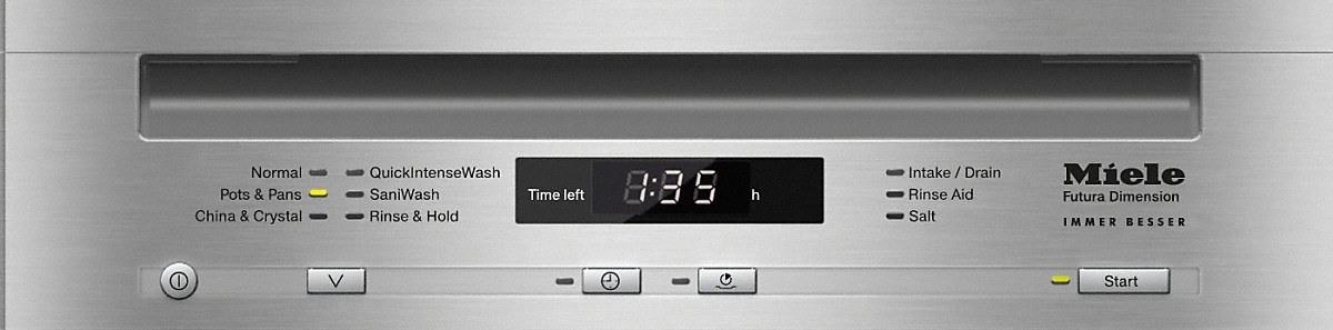 Model: 21472057USA | Miele Integrated, Slimline dishwasher with hidden controls- Panel Ready