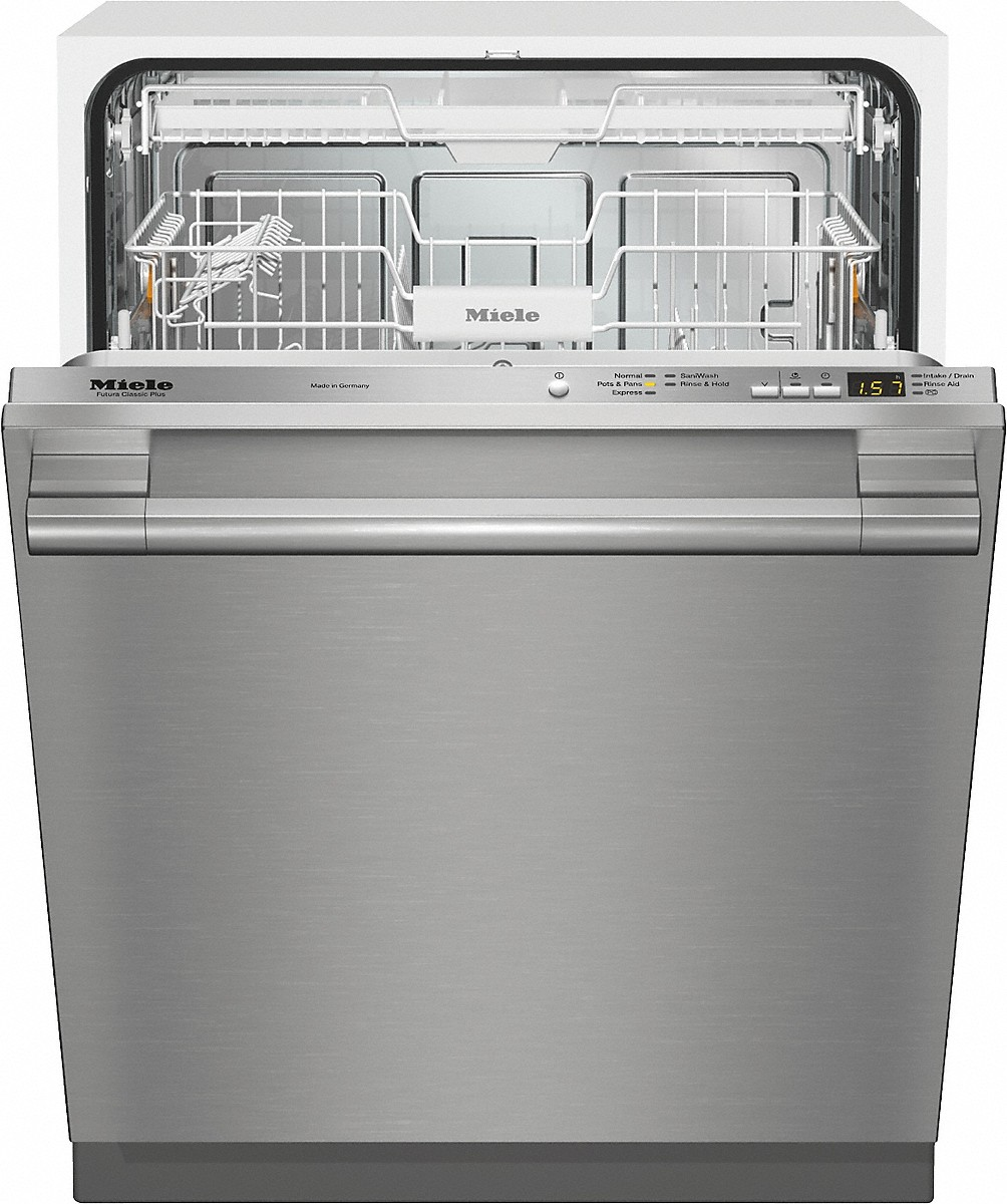 Fully-integrated, full-size dishwasher