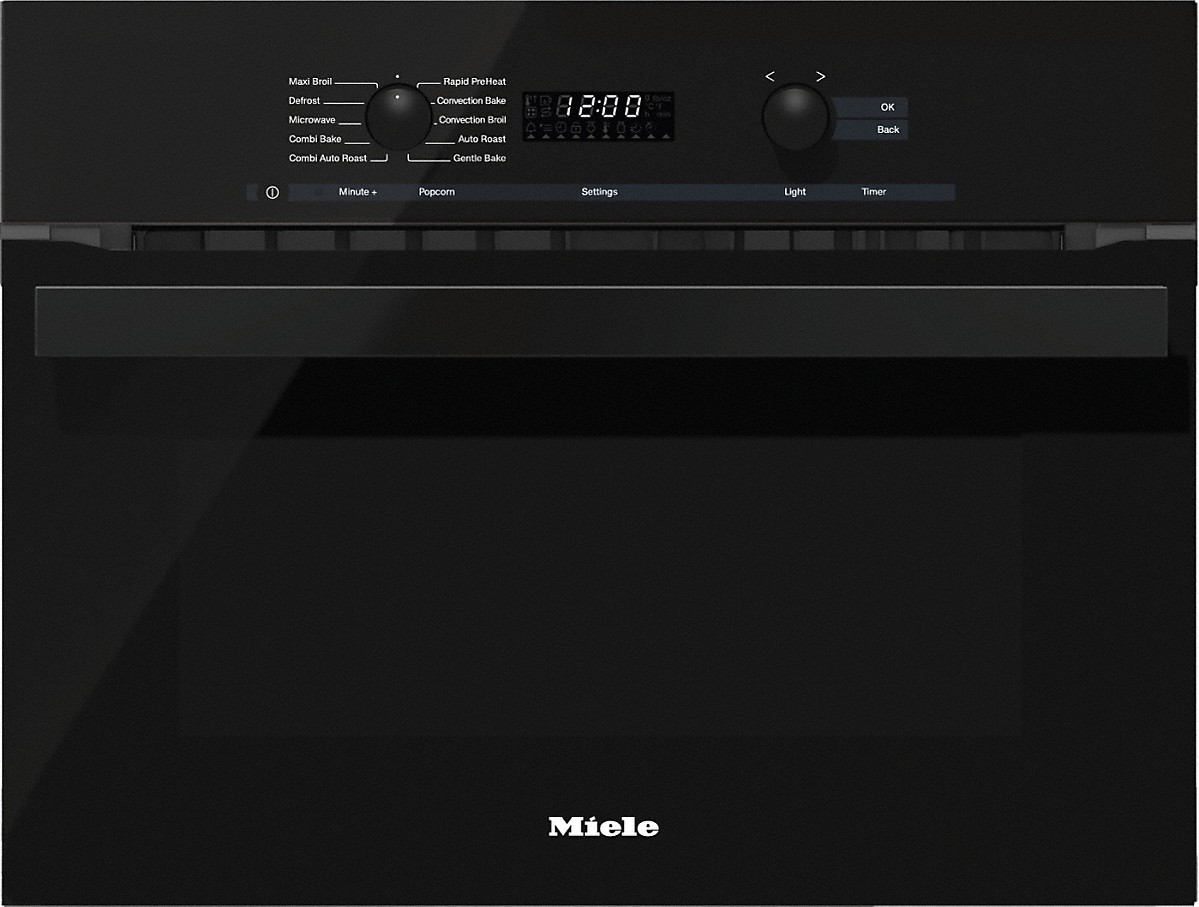 Miele 24 Inch Speed Oven With electronic clock/timer and combination modes for quick, perfect results.