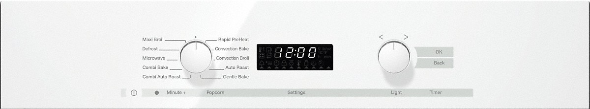 Model: 22620014USA | Miele 24 Inch Speed Oven With electronic clock/timer and combination modes for quick, perfect results.