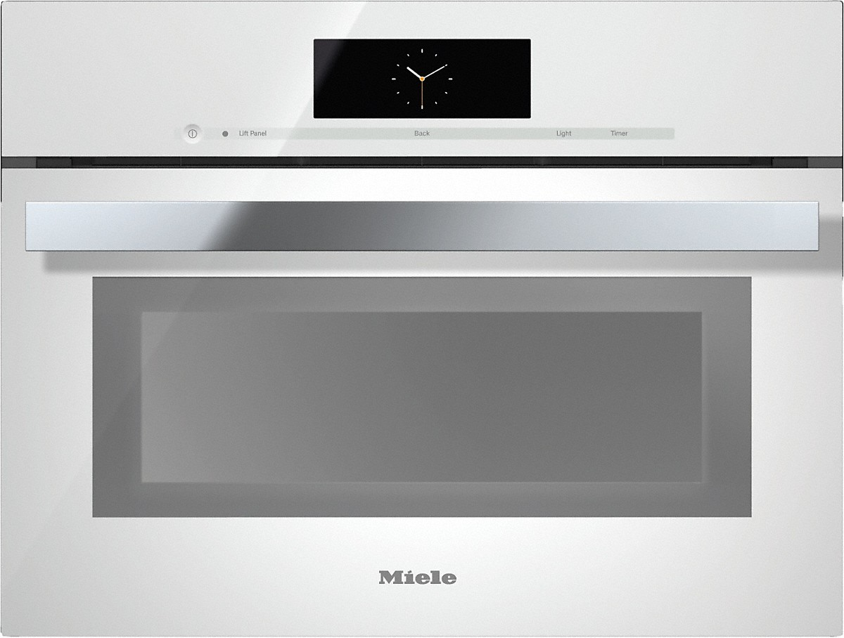 Steam oven with full-fledged oven function and XL cavity  combines two cooking techniques - steam and convection.