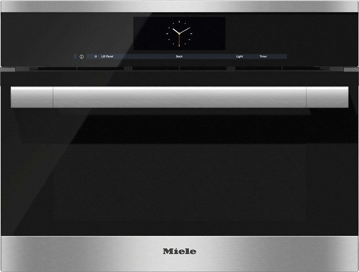 Model: 23670074USA | Miele Steam oven with full-fledged oven function and XL cavity combines two cooking techniques