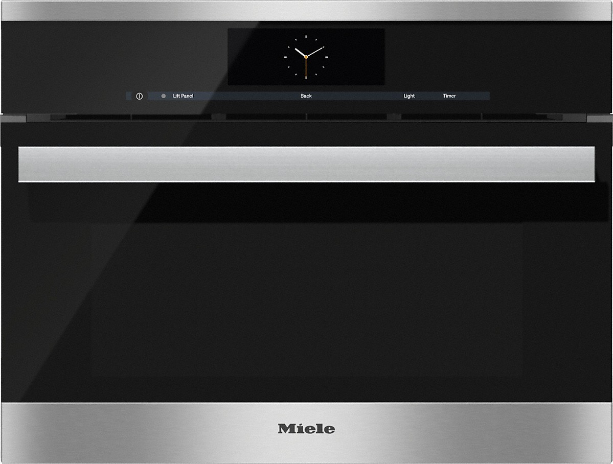 Steam oven with full-fledged oven function and XL cavity