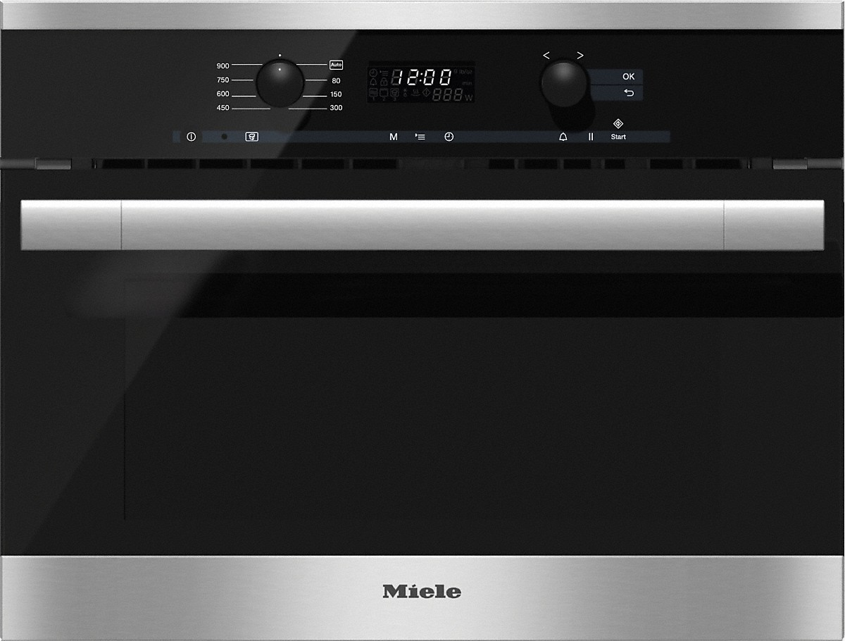 Built-in microwave ovenwith controls along the top for optimal combination possibilities.