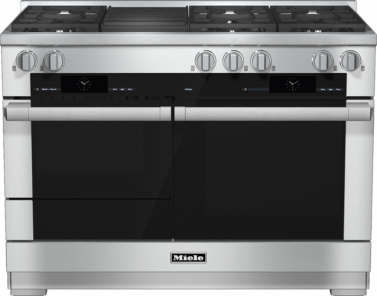 Model: 25195552USA | 48 inch rangeDual Fuel with M Touch controls, Moisture Plus and M Pro dual stacked burners