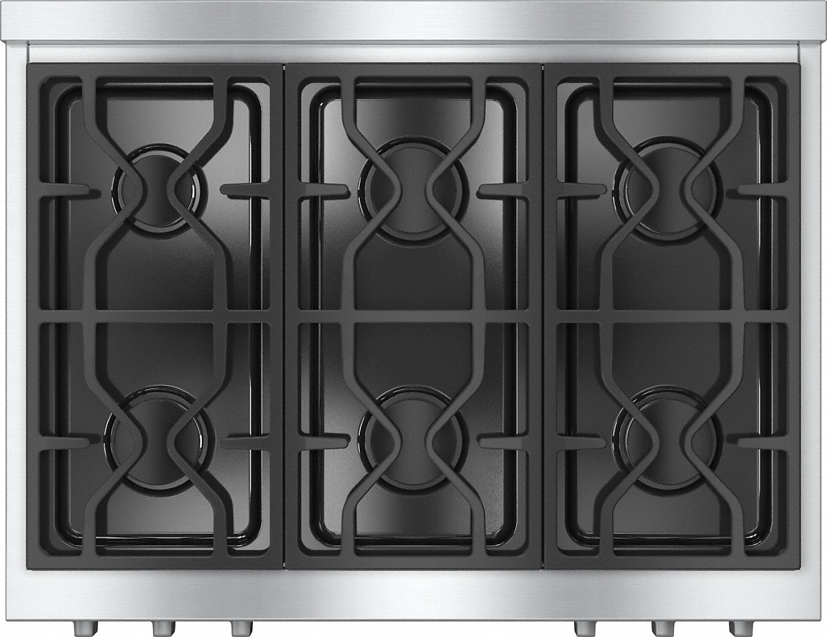 Model: KMR1134G-Outlet | Miele RangeTop with 6 burners for professional applications