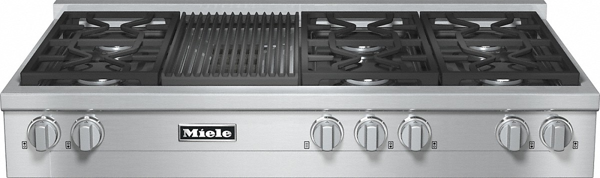 Miele RangeTop with 6 burners and grill for versatility and performance