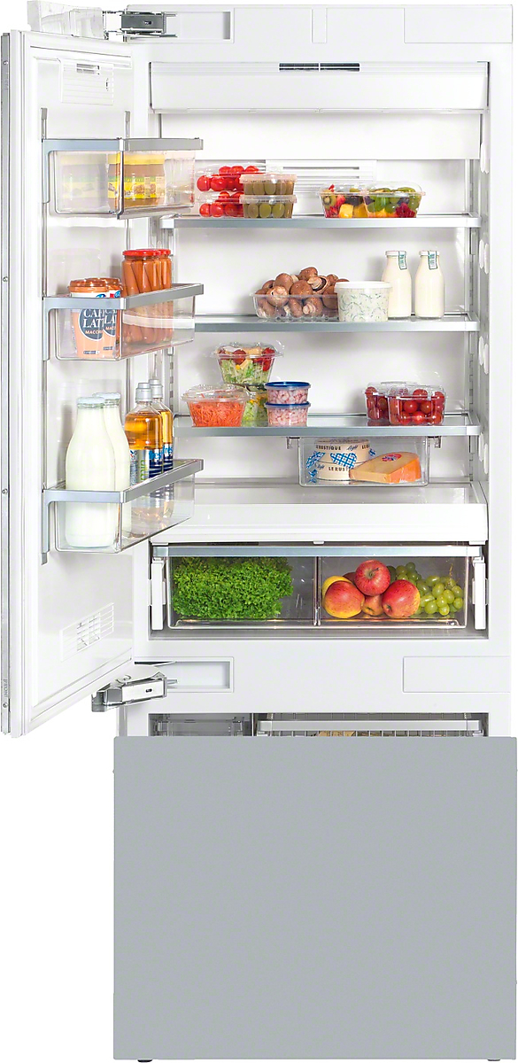 Miele MasterCool™ fridge-freezerwith high-quality features and large storage space for exacting demands.