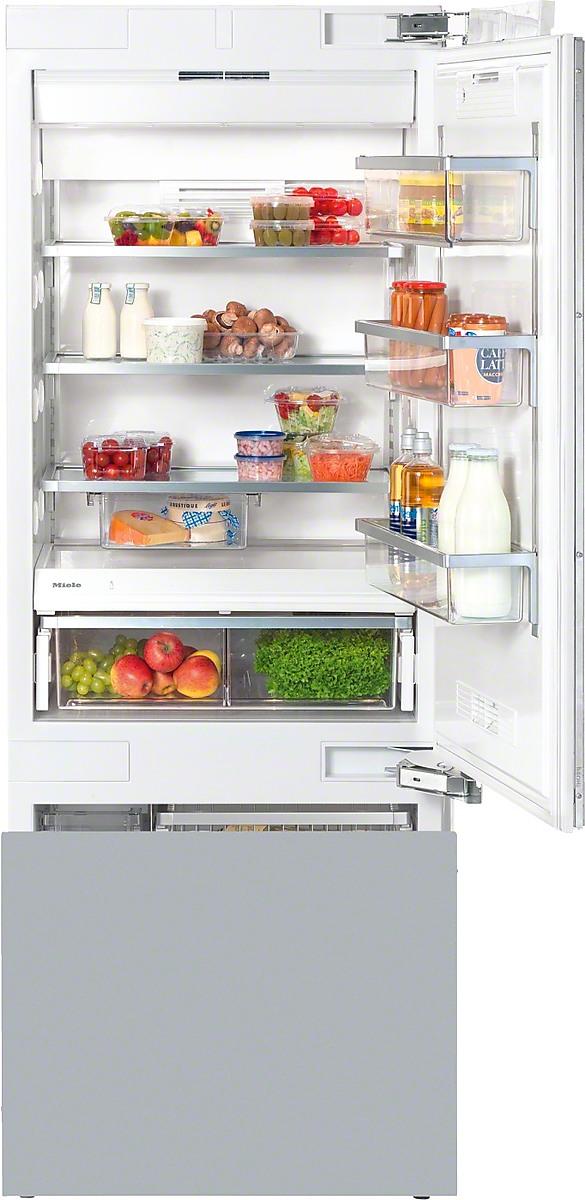 Miele MasterCool™ fridge-freezerwith large storage space and high-quality features for exacting demands.
