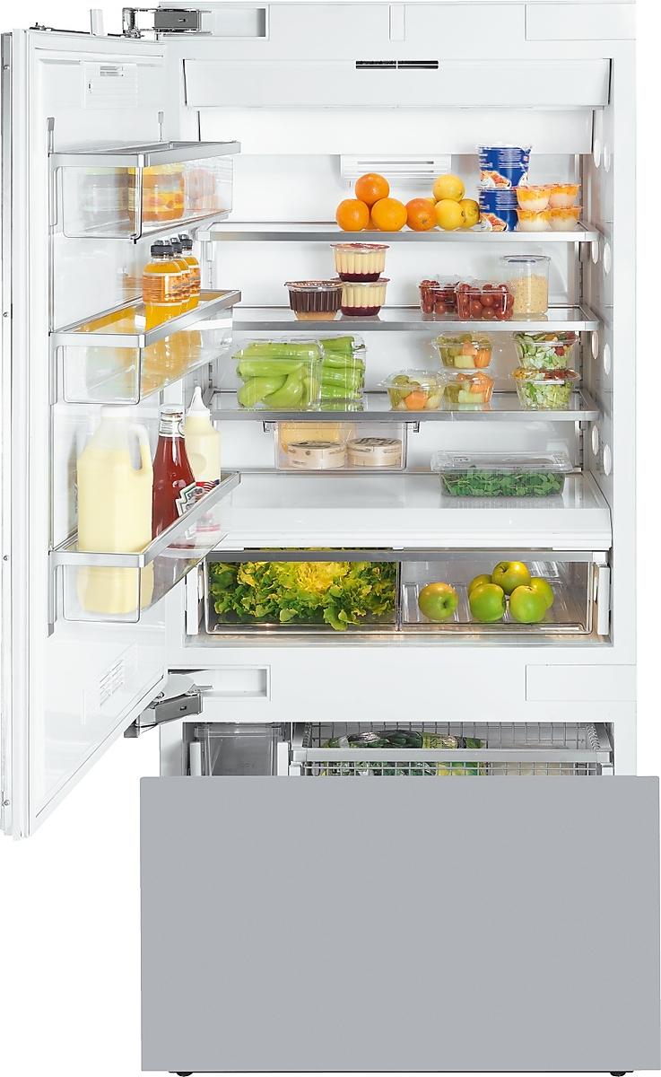 Miele MasterCool™ fridge-freezerwith high-quality features and maximum storage space for exacting demands.