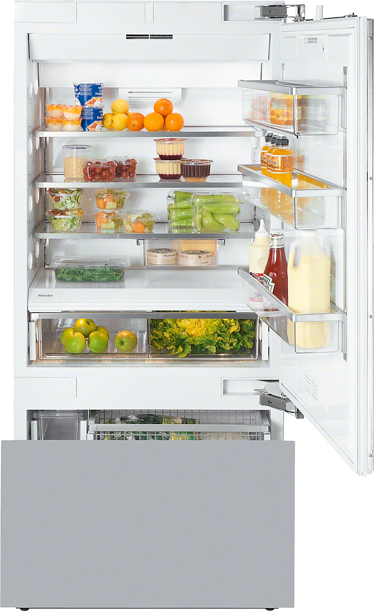 Miele MasterCool™ fridge-freezerwith maximum storage space and high-quality features for exacting demands.