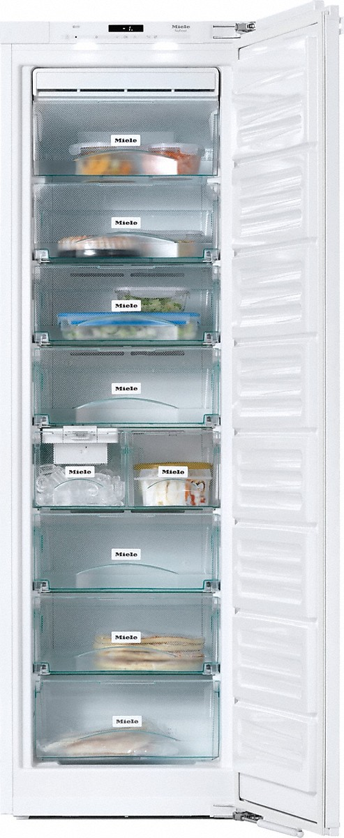 Miele PerfectCool freezer for perfect side-by-side combination in the 70 in niche.