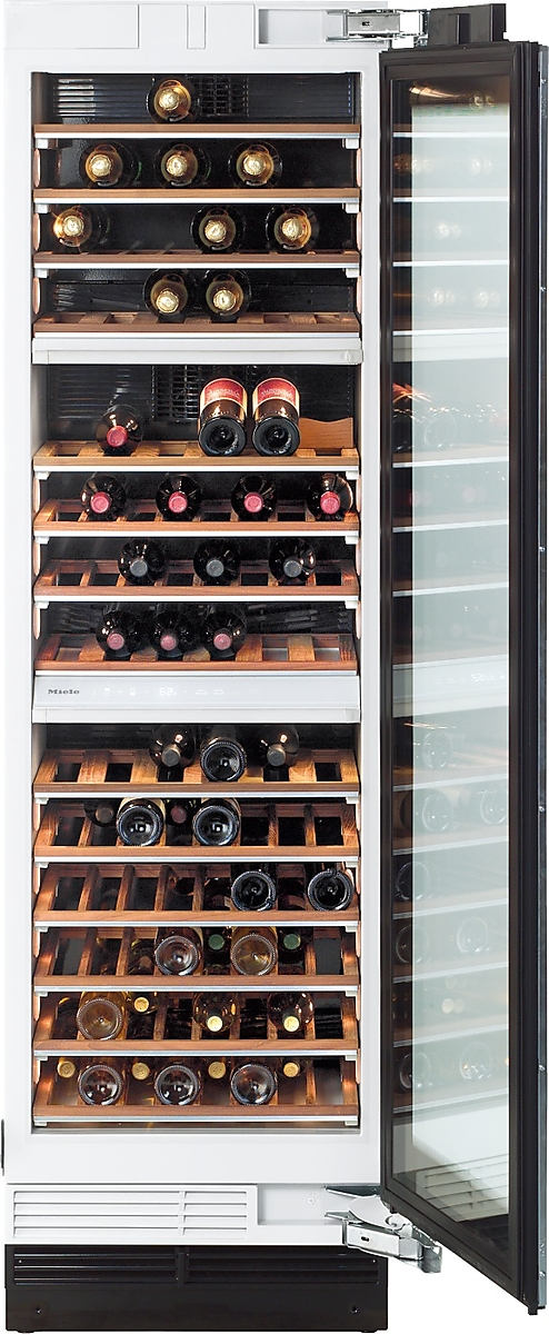 MasterCool Wine Temperature Control Unit for optimum conditioning, thanks to different zones and Miele TouchControl.