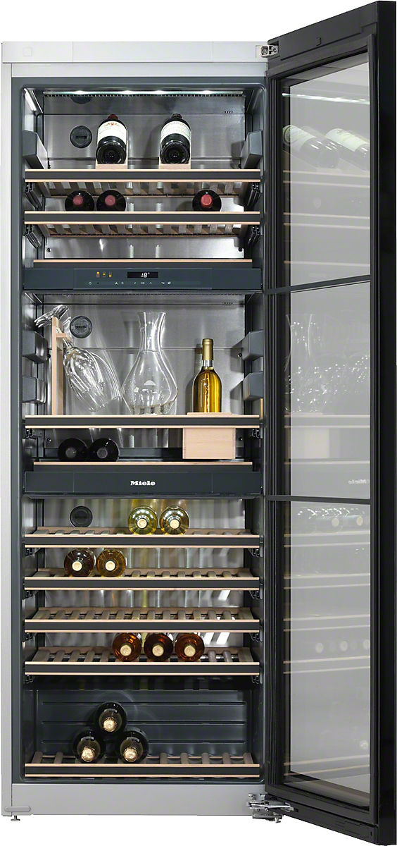 Freestanding wine storage unitFlexiFrame and SommelierSet for the perfect enjoyment of your wine.