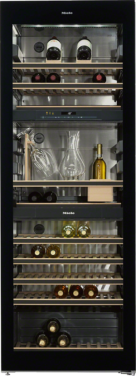 Miele Freestanding wine storage unitFlexiFrame and SommelierSet for the perfect enjoyment of your wine.