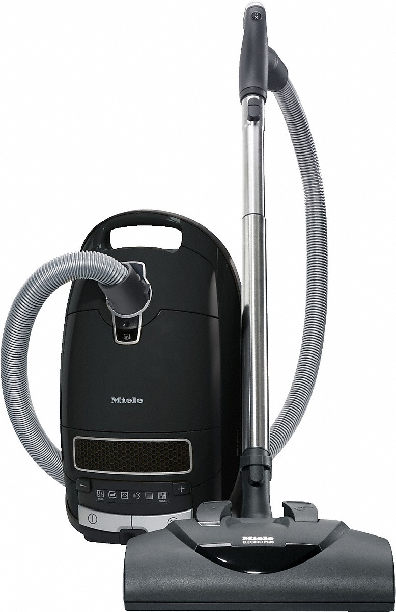 Miele canister vacuum cleaners with electrobrush for thorough cleaning of heavy-duty carpeting.