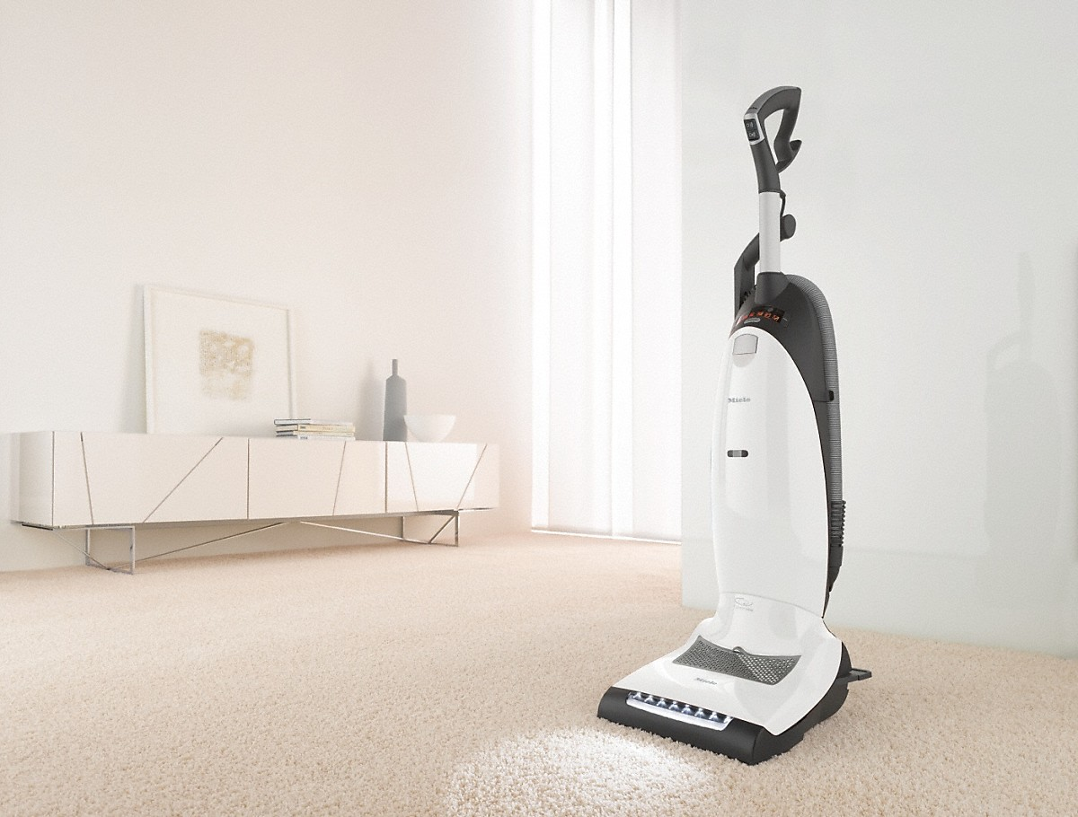 Upright vacuum cleaners With turbobrush and odor filter; ideal for pet lovers.