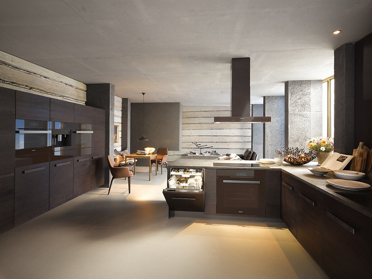 Model: 28669005USA | Miele Island decor hood with energy-efficient LED lighting and touch controls for simple operation.