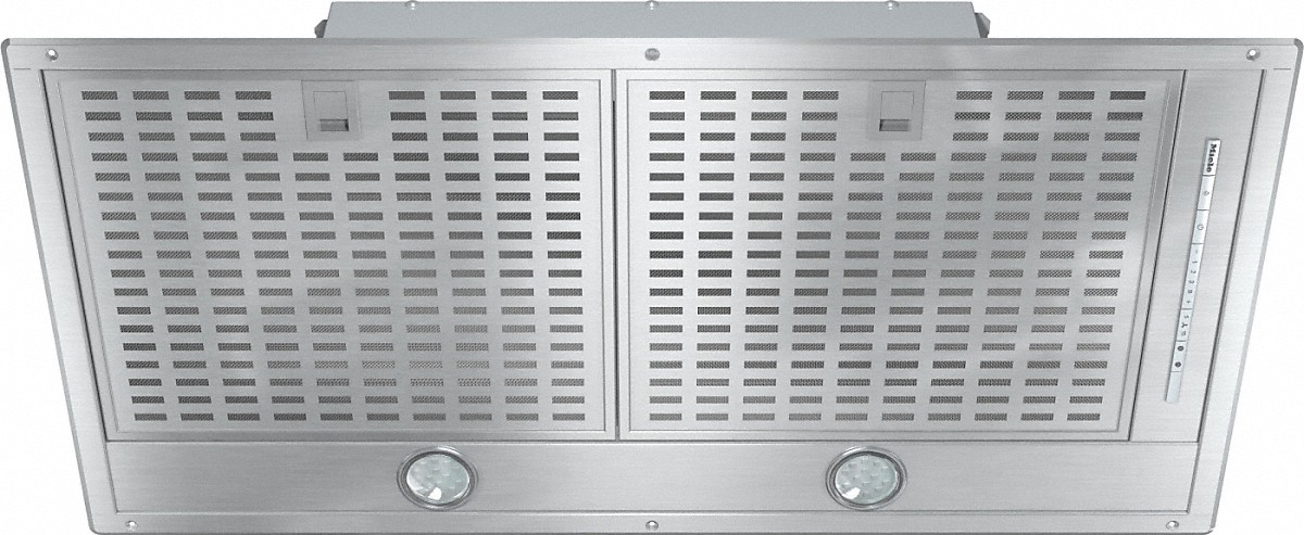 Miele Insert ventilation hood with energy-efficient LED lighting and backlit controls for easy use