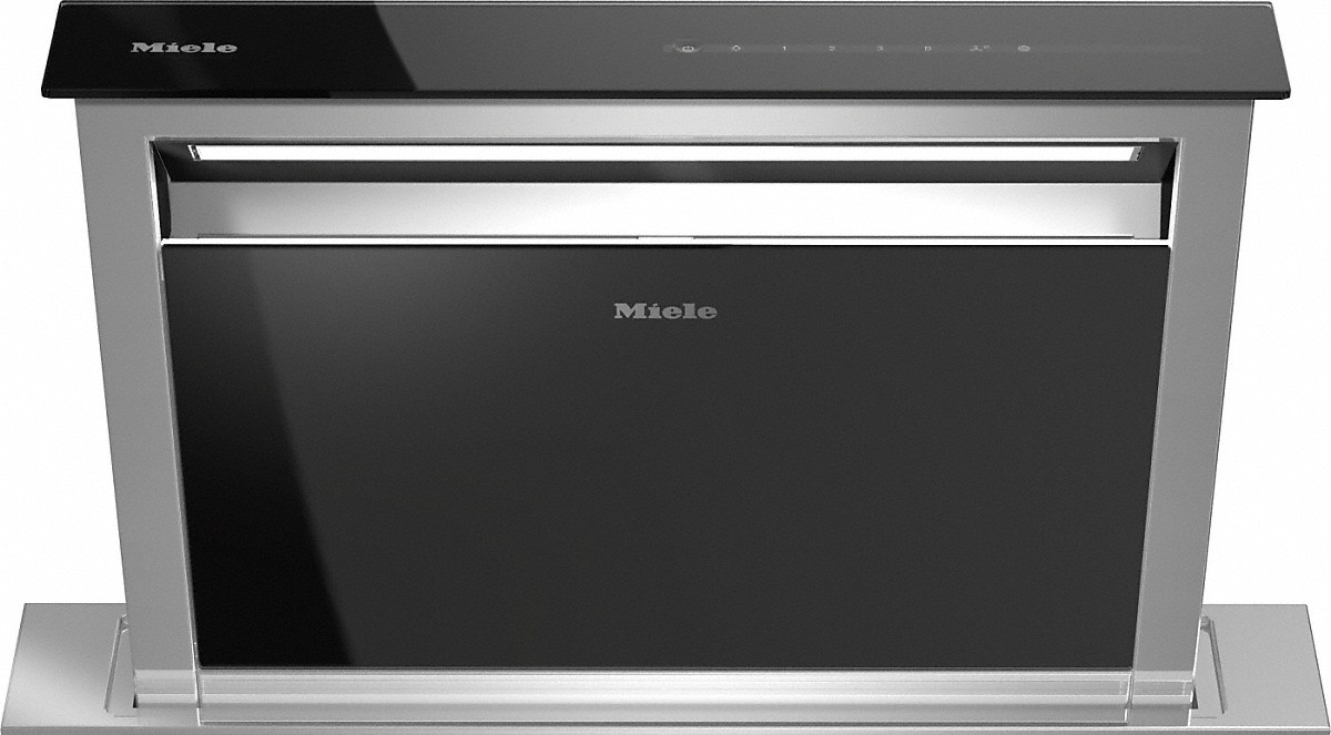 Miele Downdraft extractor system:optional external or internal blower for maximum versatility.