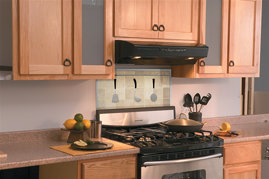 "Model: QS330BL | Broan 30"", Black, Under Cabinet Range Hood, 430 CFM"