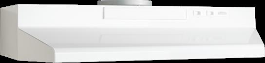 "Model: F403011 | Broan 30"" Convertible Range Hood, White-on-White"