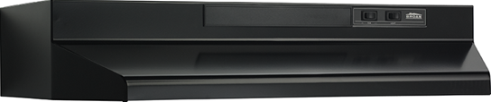 "Broan 42"" Convertible Range Hood, Black"