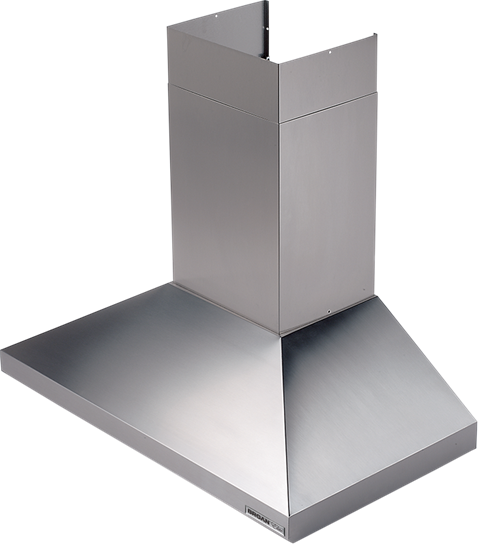 "Broan 48"" 900 CFM Stainless Steel Chimney Hood, Internal Blower"
