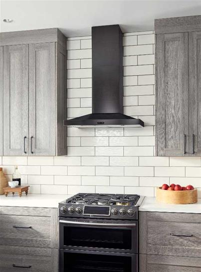 "Model: EW5430BLS | Broan 30"" 500 CFM Black Stainless Steel Chimney Range Hood"