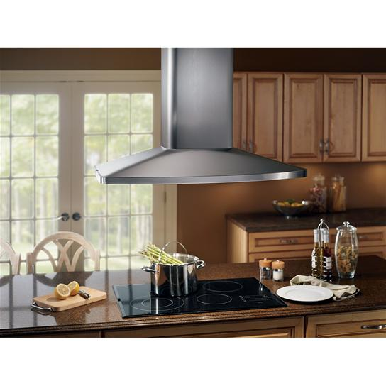 "Model: E5490SS | Broan Broan 480 CFM 27-9/16"" x 35-7/16"" Island Hood in Stainless Steel"