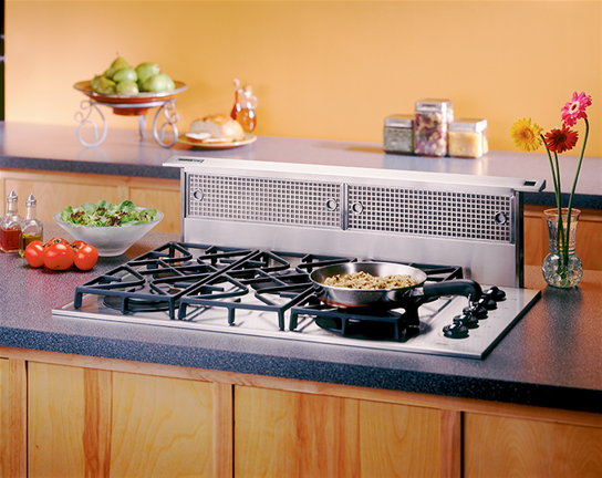 "Broan 36"", Stainless Steel, Downdraft , Choice of Optional Exterior or In-line Blowers (Not included)"