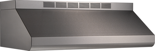 "Model: E6436SS | Broan 36"" 600 CFM Internal Blower Stainless Steel Range Hood"