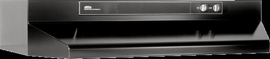 """Model: 463023   Broan 30"""" 220 CFM Black Under Cabinet Range Hood"""