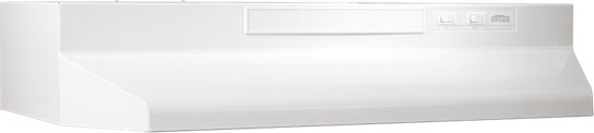 "Broan 42"" Convertible Range Hood, White-on-White"