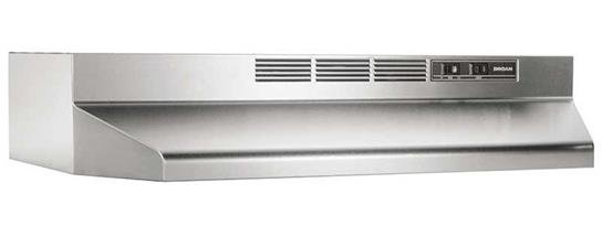 "Broan 30"", Stainless Steel, Under Cabinet Hood, Non-ducted"
