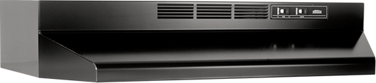 "Broan 36"", Black, Under Cabinet Hood, Non-ducted"